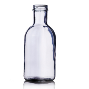 16oz round stout custom glass bottle