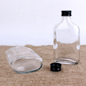 Flask custom colored 250ml cold coffee glass bottles