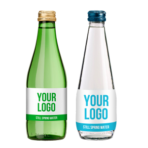 330ml European style clear or green glass bottle for soda water