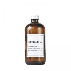 Dark amber 16oz coffee 500ml glass juice bottle