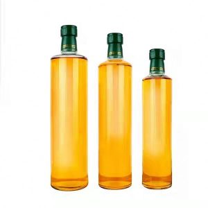 Clear round shape glass bottle for Olive oil