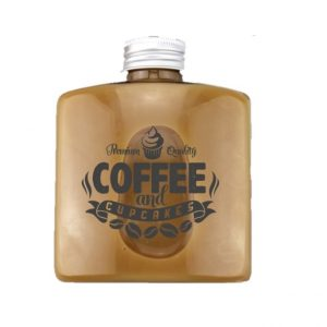 Flat square coffee glass bottle with printing