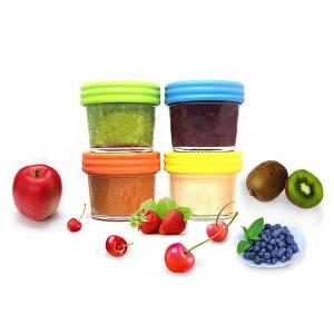 Baby food 4oz mason glass jam jar with plastic caps