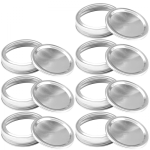 86mm Wide mouth mason jar metal lids and bands