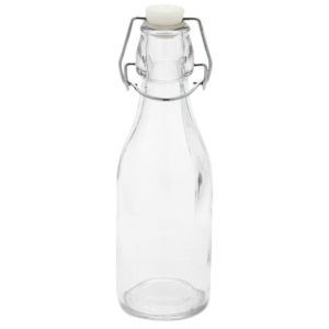 Clear round 250ml juice swing top bottle for water