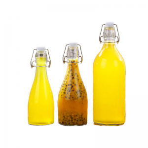 New 350ml 500ml 1000ml swing top juice glass bottle