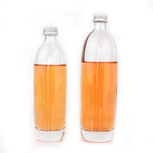 Clear round 375ml 500ml vodka glass bottle with thick bottom