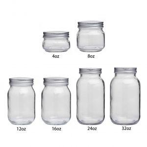 All size glass mason jars