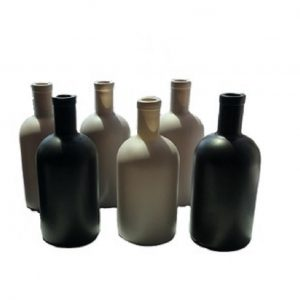 Classic vodka glass bottle with custom color printing