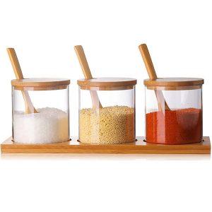Borosilicate condiment container seasoning box set