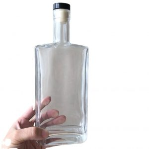 500ml flint square glass bottle with cork