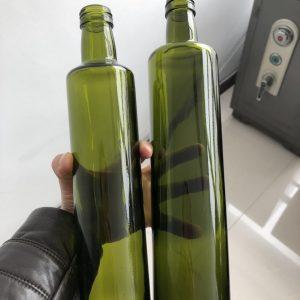 250ml round green Olive oil glass bottle