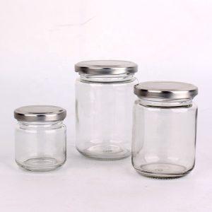 Cheap factory price round glass jar with lug cap