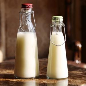 Ceramic swing top glass bottle 500ml 1000ml milk bottle