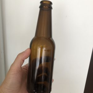 Amber 250ml 330ml beer glass bottle with crown caps