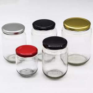 Clear 250ml 500ml 750ml glass food jars with TW lug caps