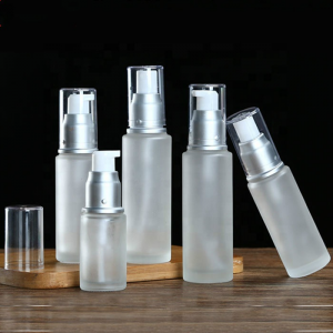 Frosted glass lotion bottle with spray 30ml 50ml 80ml 100ml
