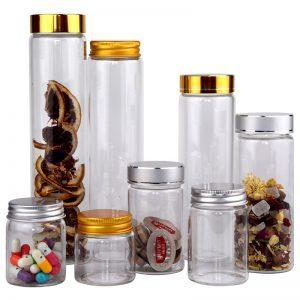Flint capsule pill glass jars