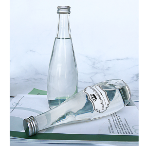 2021 330ml 500ml mineral water glass bottle with screw lid
