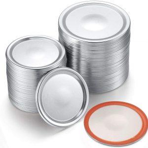 Regular or wide mouth split-type lids for Mason jar