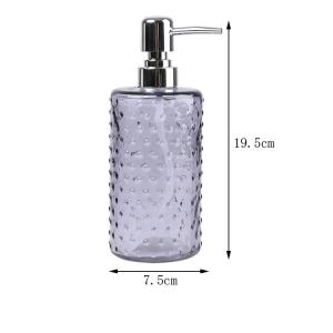 16oz liquid soap glass bottle with metal pump sprayer