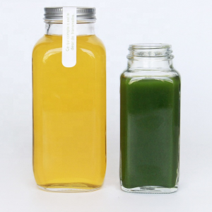 French square 180ml 250ml juice drinks glass bottle wholesale