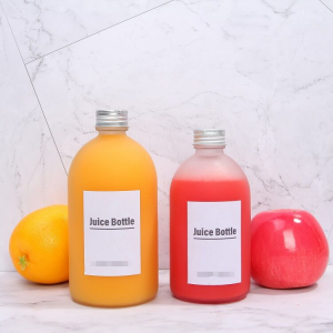 Frosted clear 350ml 500ml organic juice bottles