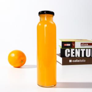 Slim round 10oz 300ml juice drinks glass bottles with twist off lug cap