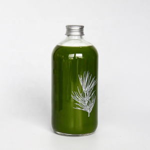Round 16oz juice beverage glass bottle with custom printings