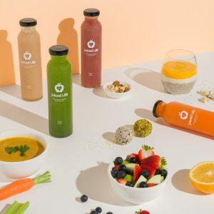Clylinder 10oz 300ml juice glass bottle with twist off lids custom printing