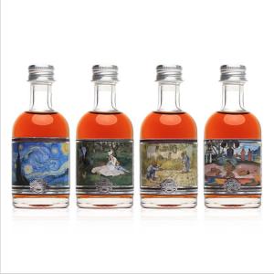 Flint small 100ml rhum bottle vodka spirit bottle with screw cap