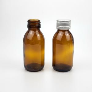 Amber 100ml pharmacy liquid glass bottle wholesale