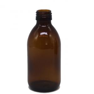 Dark amber oral liquid glass bottle 200ml 300ml