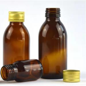 Amber round 30ml 125ml 250ml oral liquid glass bottle